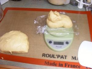 Dividing Challah Dough